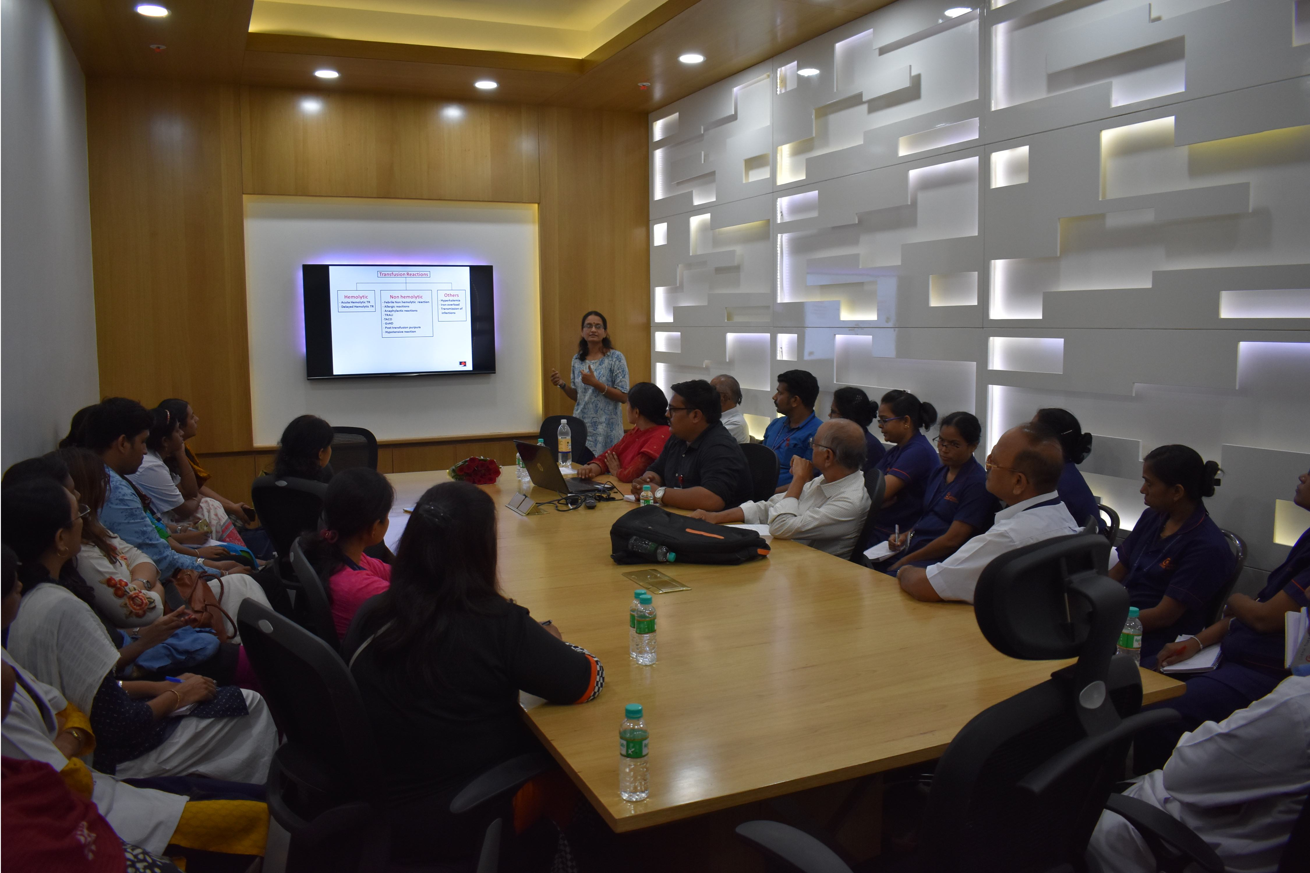 Training of Healthcare providers at NCI, Jamtha on Safe Blood Transfusion practices
